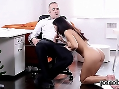 Kissable schoolgirl is tempted and nailed by her older teacher