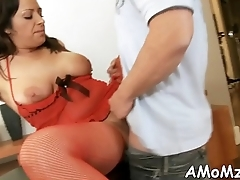 Older chick moans and gets off
