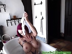 Hot MILF Gets Wet And Hot In Bathtub