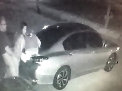 Mexican Milf Gets Fucked In Driveway On Security Camera