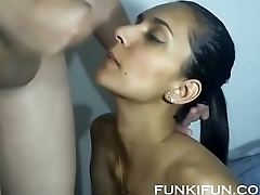 BUSTY LATINA SISTER TAKES NICE CUM LOAD ON TONGUE AND SWALLOWS ON WEBCAM