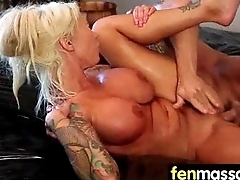 Gorgeous Skinny gets a massage 26