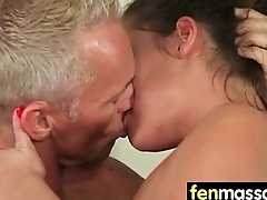 Gorgeous Skinny gets a massage 6