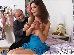 Boiling young chick fucks old boy