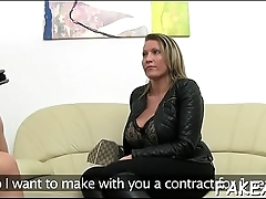 Arousing try-out with hot babe