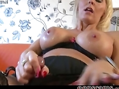 gorgeous busty cougar mom on casting couch        by oopscams