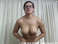 Eating your cum would please your goddess CEI