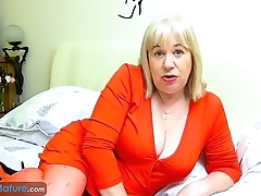 EuropeMaturE Older Trisha Solo Masturbation