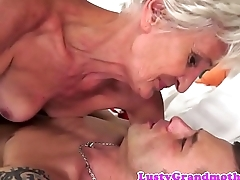 Alluring granny pounded in missionary fa‡ade