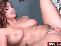 Chunky tits teacher fucked at school 19