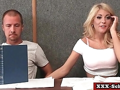 Big tits teacher fucked at school 16