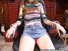 Layla tied up for fun