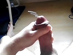 Big cumshot from a young guy