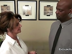 Mature Milf Deauxma Fucks Say no to Black Boss!