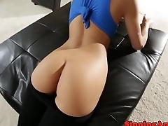 Facialized bootyful petite likes it kinky