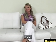 Auditioning euro doggystyled by her agent