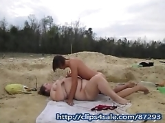 Young Wife Gets Fucked &amp_ Creampie Outside In Public