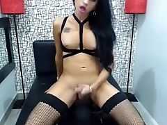 Latina Ladyboy Goddess Masturbating