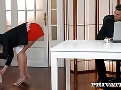 Private.com - Aria Logan Sucks Her Boss&rsquo_s Hard Cock