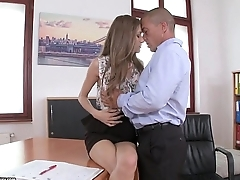 Rebel Lynn has orgasms on her boss'_ dick