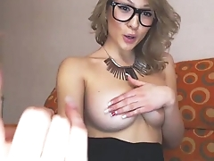 Teen With Big Tits and Glasses on BasedCams.com