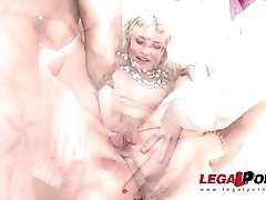 Tiny Blonde slut Bree Haze double anal fucked and sprayed