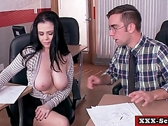 Big teat banged at school 29