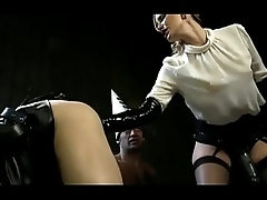 Mistress whips and fucks slave