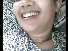 Indonesian  girl show boob on imo chat