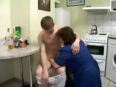 Russian mating mom boy hot
