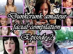 Dunkcrunk amateur facial compilation Occurrence 2