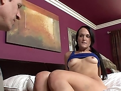 Older guy fucking young hosuemaid till huge cumload as facial she loves get cum