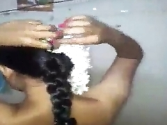 Hindu girl getting ready
