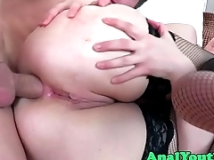 Assfucked eurobabe loves sexy stockings