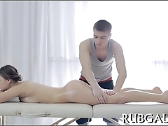 Massage with gay realizing